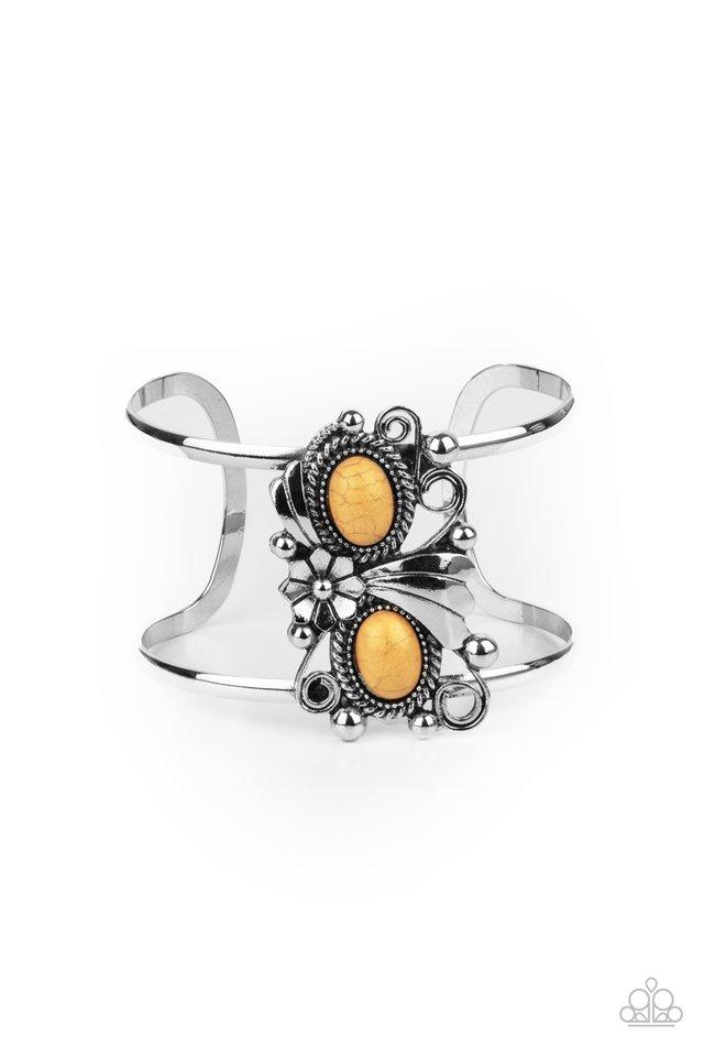 Mojave Flower Girl - Yellow - Paparazzi Bracelet Image