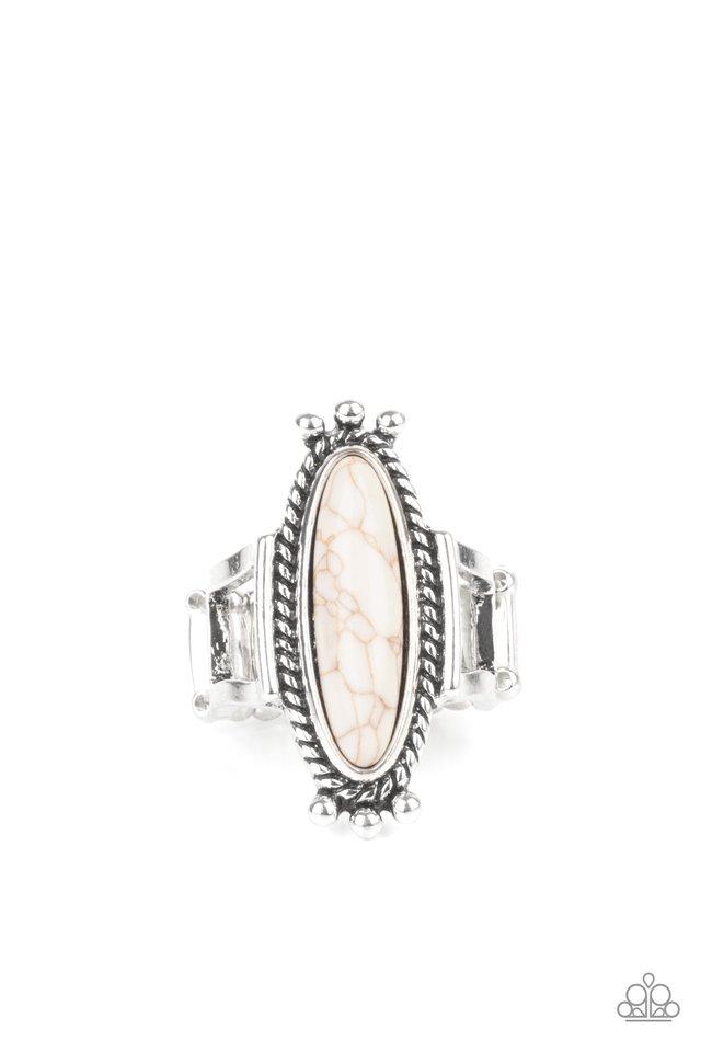 Sahara Escape - White - Paparazzi Ring Image
