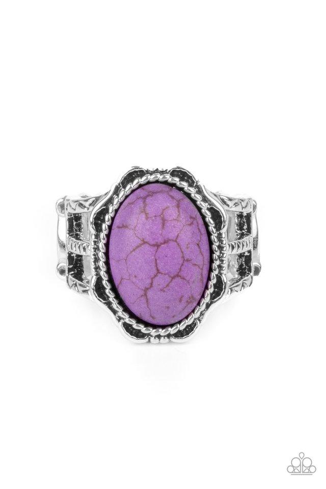 Flowering Dunes - Purple - Paparazzi Ring Image