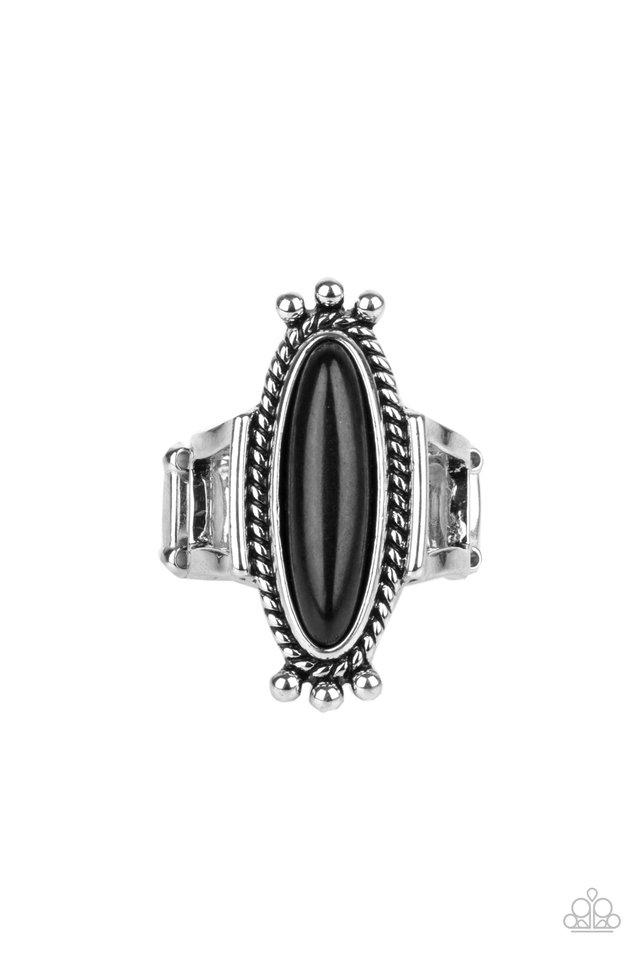 Sahara Escape - Black - Paparazzi Ring Image