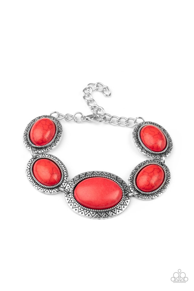 MESA Time Zone - Red - Paparazzi Bracelet Image