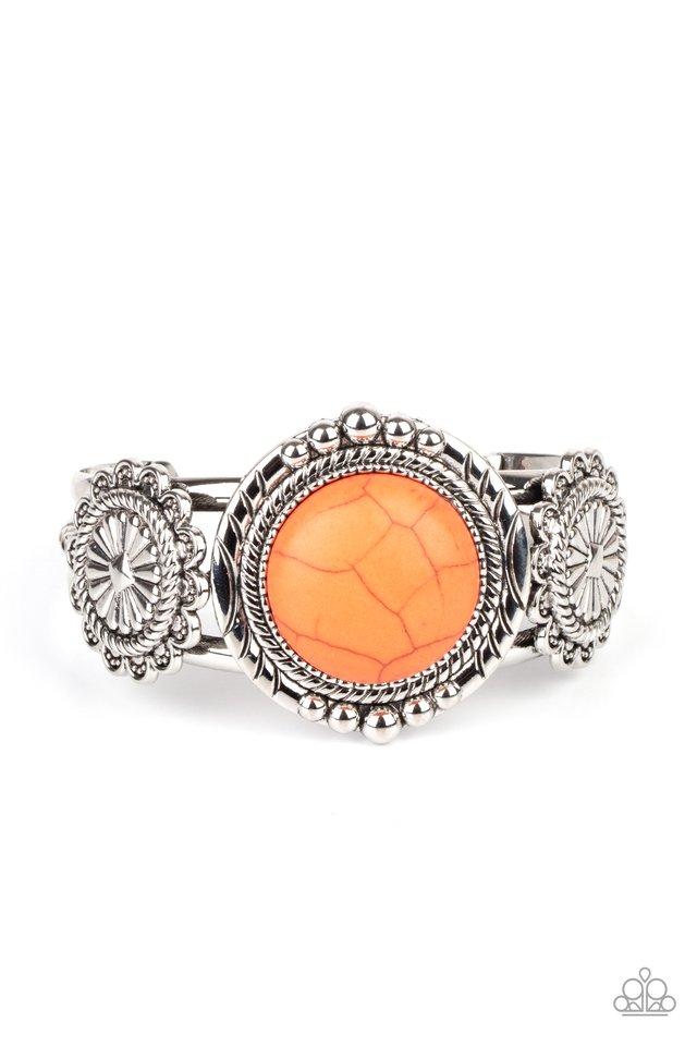 Mojave Motif - Orange - Paparazzi Bracelet Image
