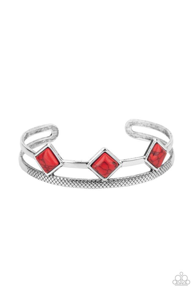 Adobe Ascension - Red - Paparazzi Bracelet Image