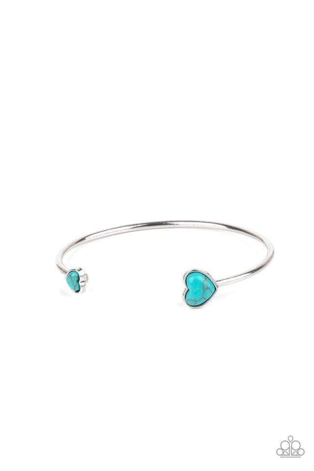 Romantically Rustic - Blue - Paparazzi Bracelet Image