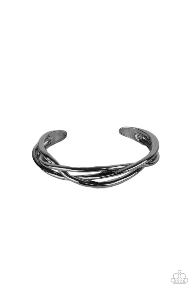 PLAIT Tectonics - Black - Paparazzi Bracelet Image