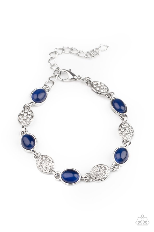 Stop and GLOW - Blue - Paparazzi Bracelet Image