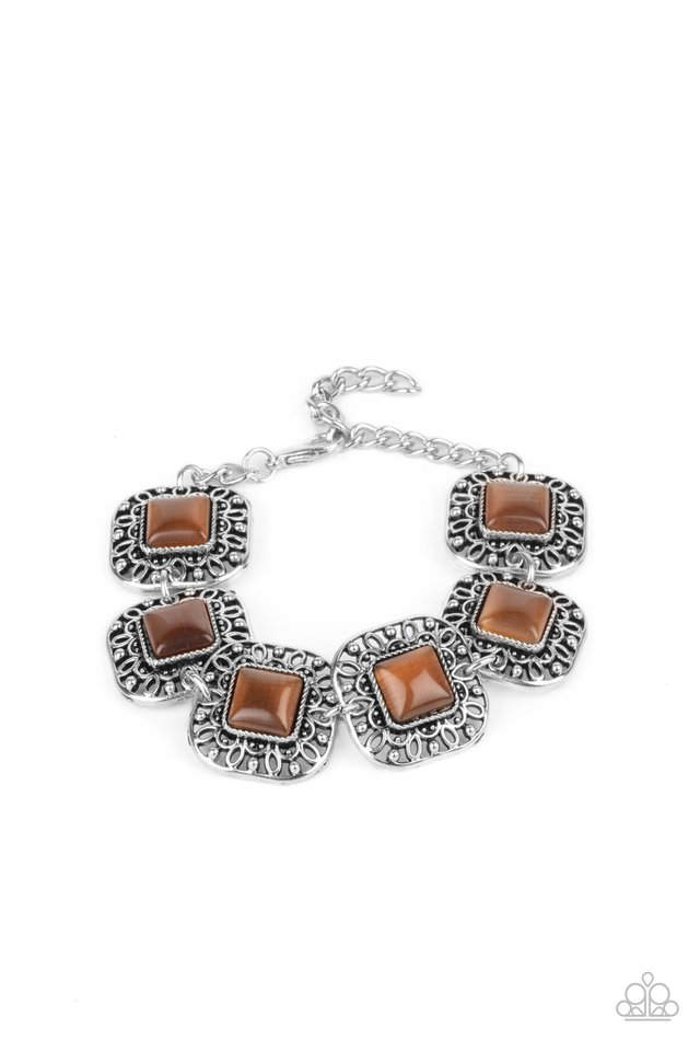 Dreamy Destinations - Brown - Paparazzi Bracelet Image