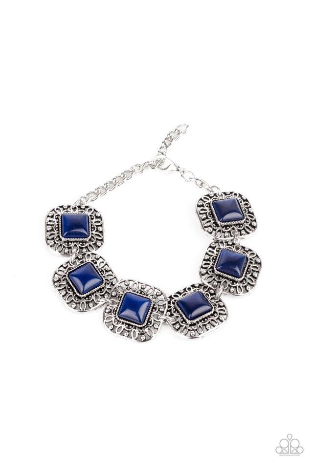 Dreamy Destinations - Blue - Paparazzi Bracelet Image