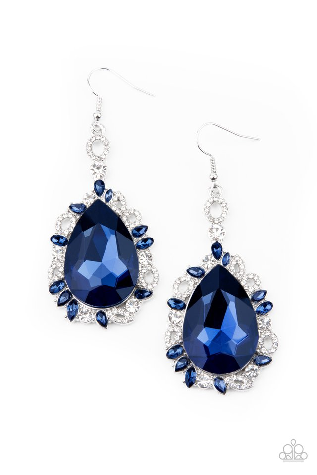 Royal Recognition - Blue - Paparazzi Earring Image