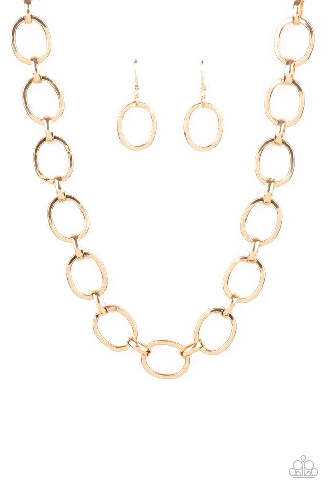 HAUTE-ly Contested - Gold - Paparazzi Necklace Image