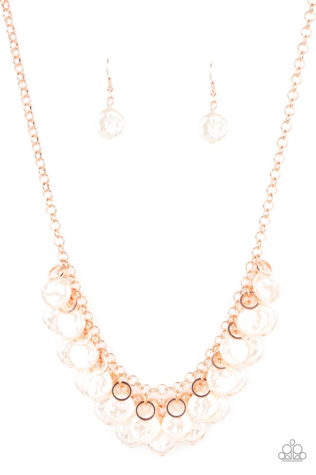 BEACHFRONT and Center - Copper - Paparazzi Necklace Image