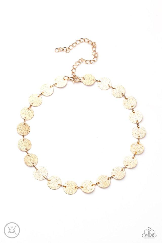 Reflection Detection - Gold - Paparazzi Necklace Image