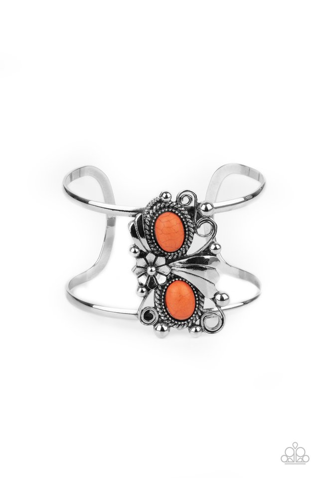 Mojave Flower Girl - Orange - Paparazzi Bracelet Image