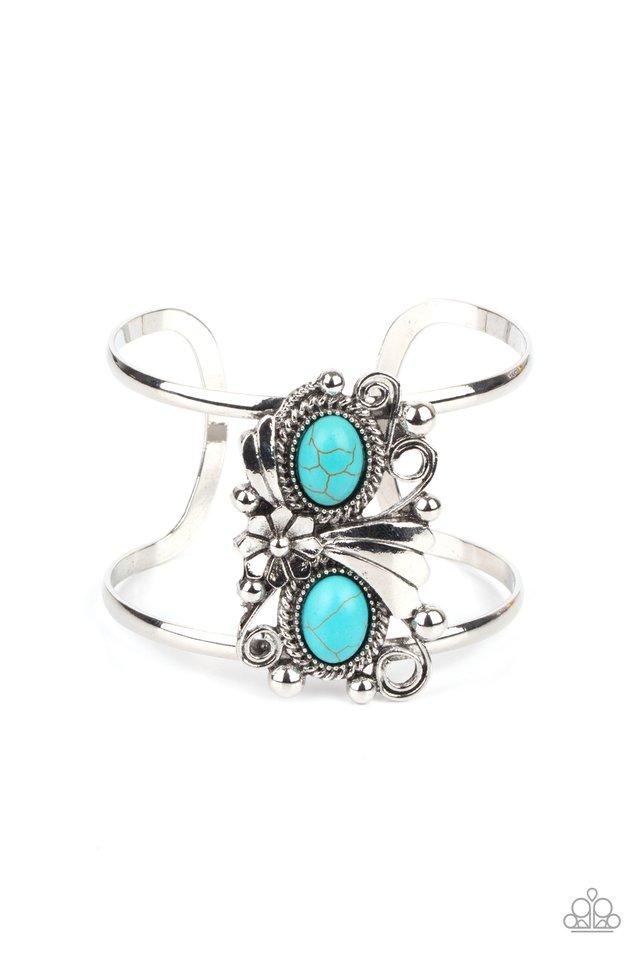 Mojave Flower Girl - Blue - Paparazzi Bracelet Image