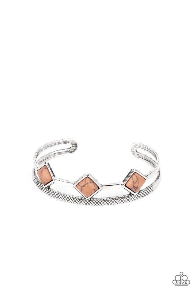 Adobe Ascension - Brown - Paparazzi Bracelet Image