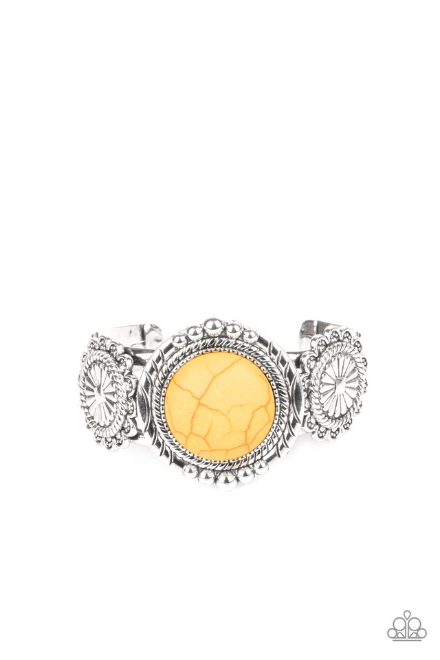 Mojave Motif - Yellow - Paparazzi Bracelet Image