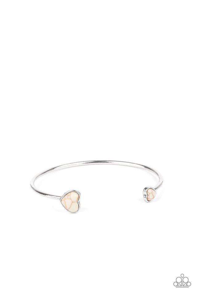 Romantically Rustic - White - Paparazzi Bracelet Image