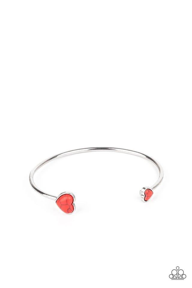 Romantically Rustic - Red - Paparazzi Bracelet Image