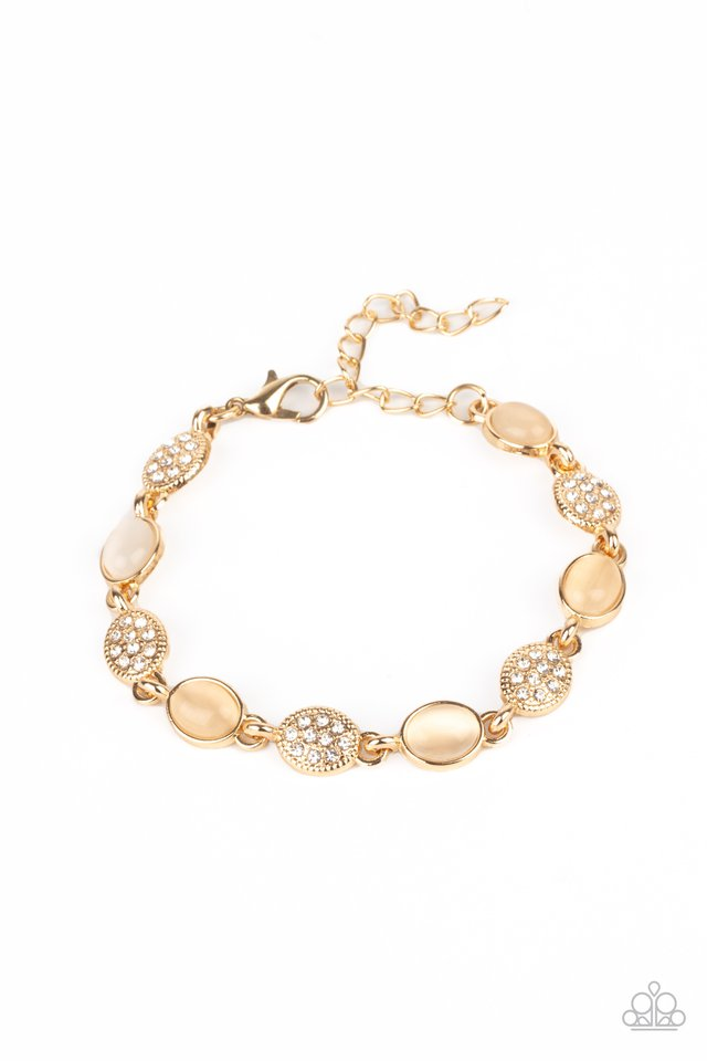 Stop and GLOW - Gold - Paparazzi Bracelet Image