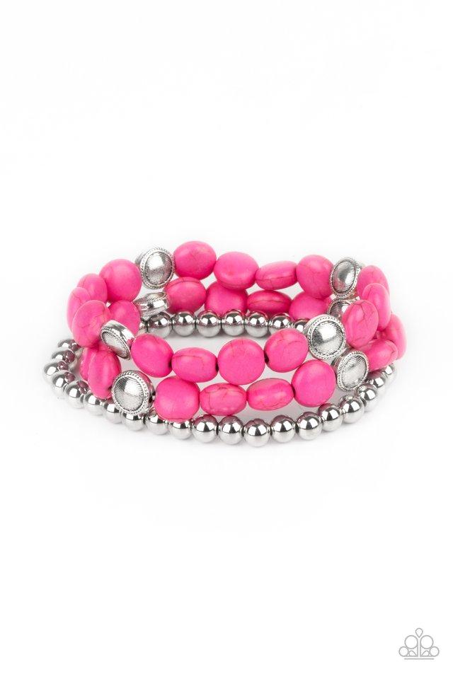 Desert Verbena - Pink - Paparazzi Bracelet Image