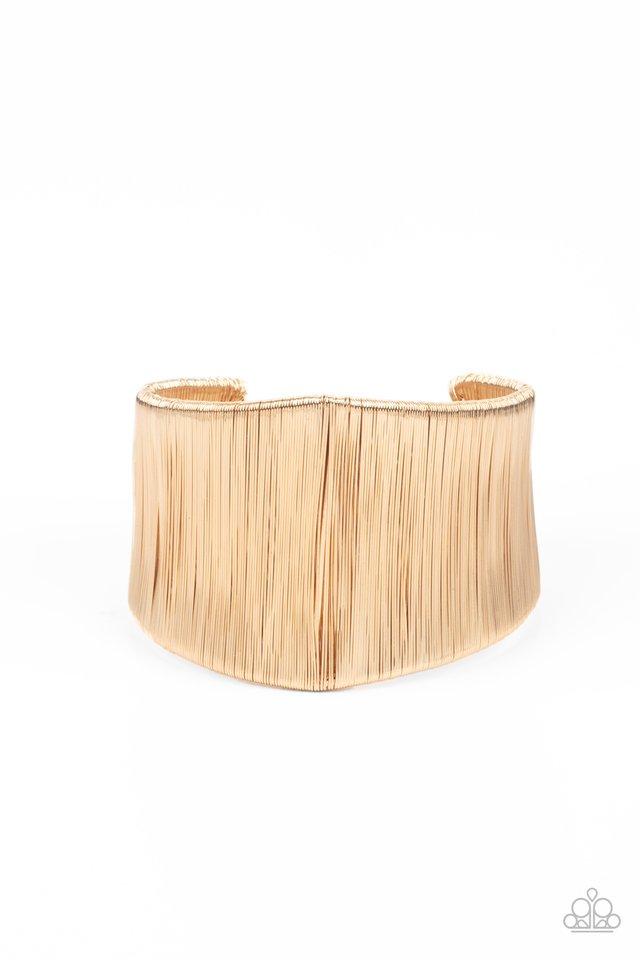 Hot Wired Wonder - Gold - Paparazzi Bracelet Image