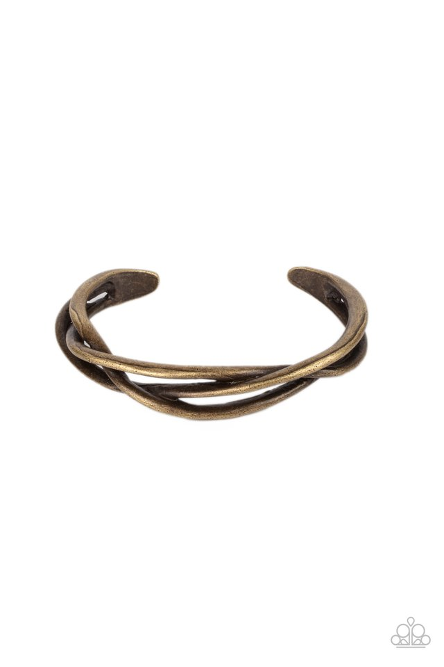 PLAIT Tectonics - Brass - Paparazzi Bracelet Image
