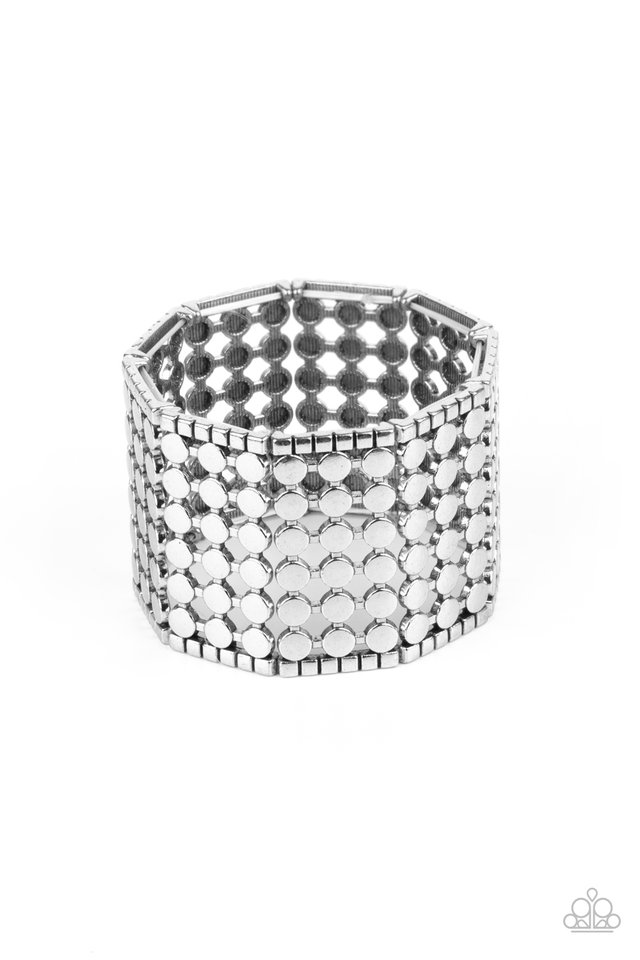 Cool and CONNECTED - Silver - Paparazzi Bracelet Image