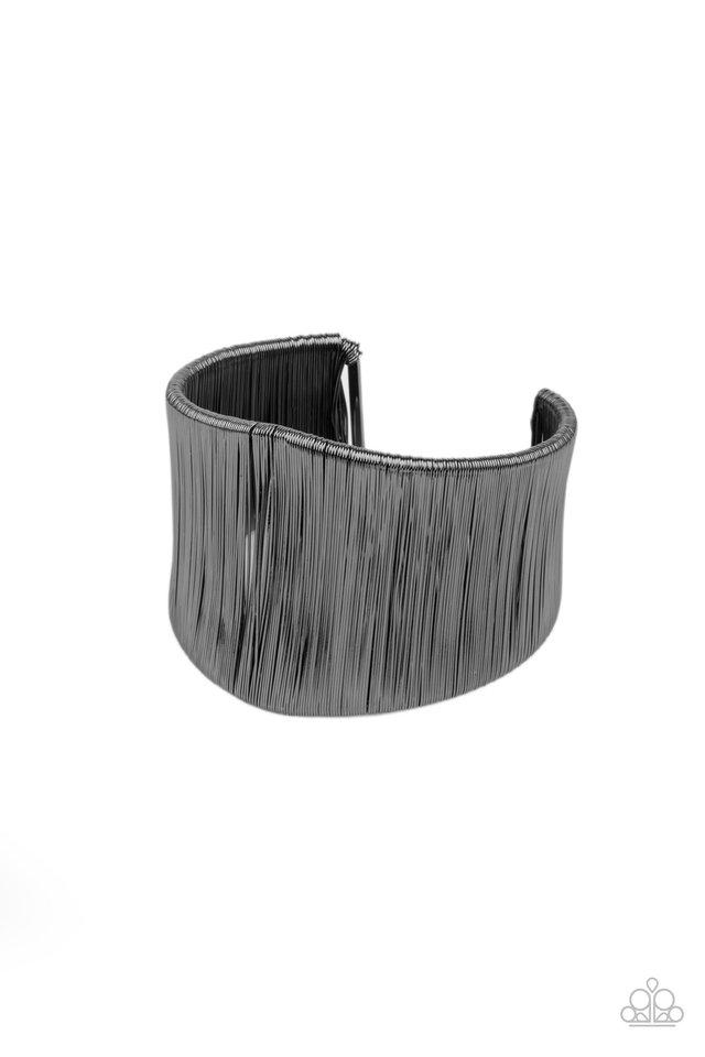 Hot Wired Wonder - Black - Paparazzi Bracelet Image