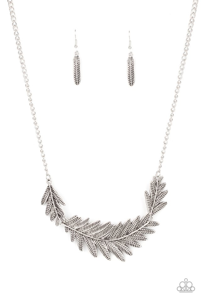 Queen of the QUILL - Silver - Paparazzi Necklace Image