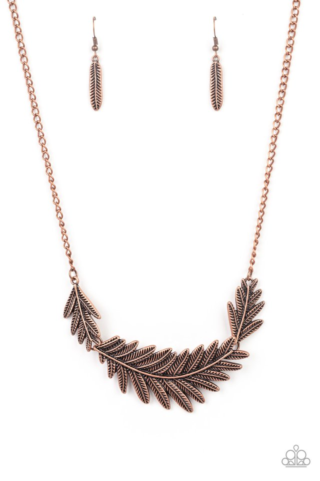 Queen of the QUILL - Copper - Paparazzi Necklace Image