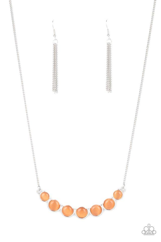 Serenely Scalloped - Orange - Paparazzi Necklace Image