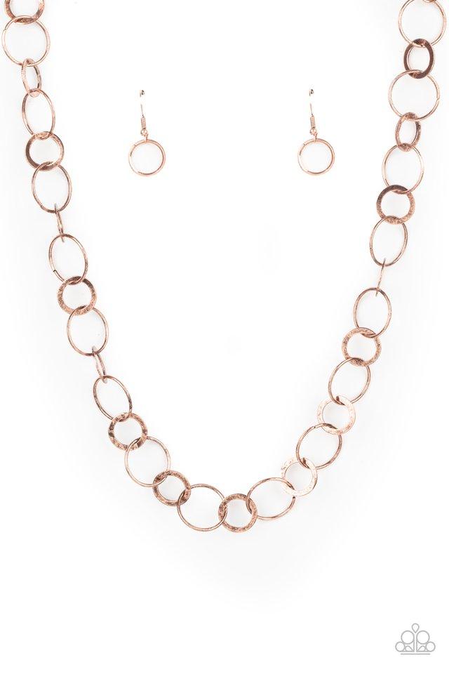 Revolutionary Radiance - Copper - Paparazzi Necklace Image