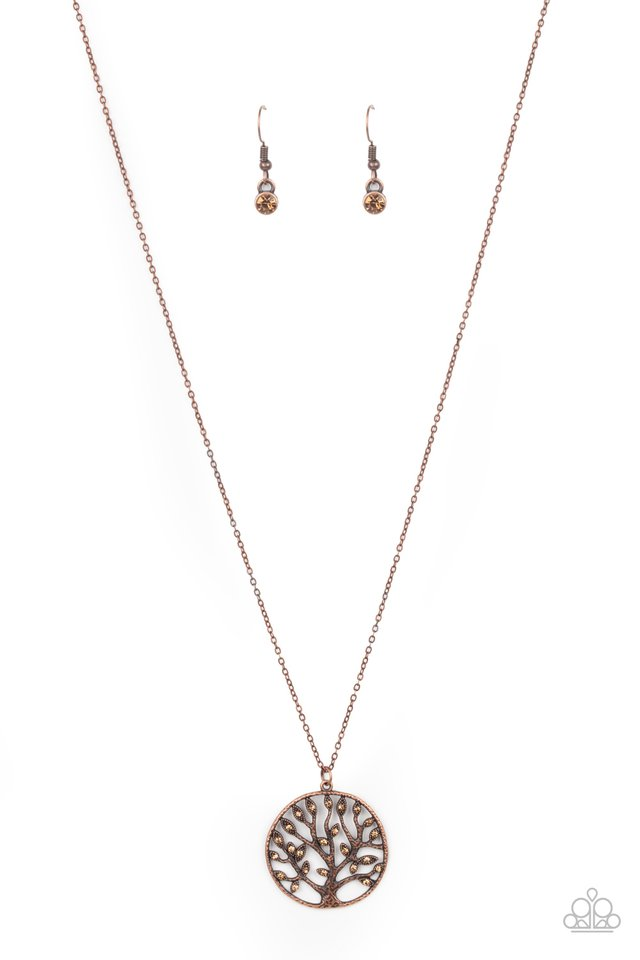 Save The MONEY Trees - Copper - Paparazzi Necklace Image
