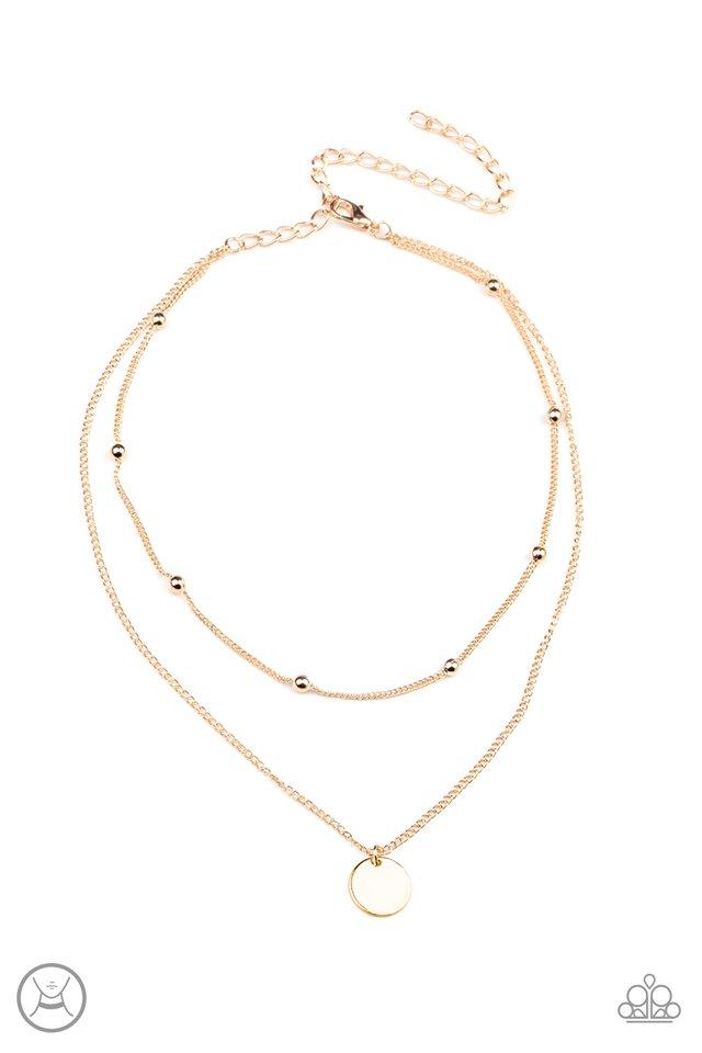 Modestly Minimalist - Gold - Paparazzi Necklace Image