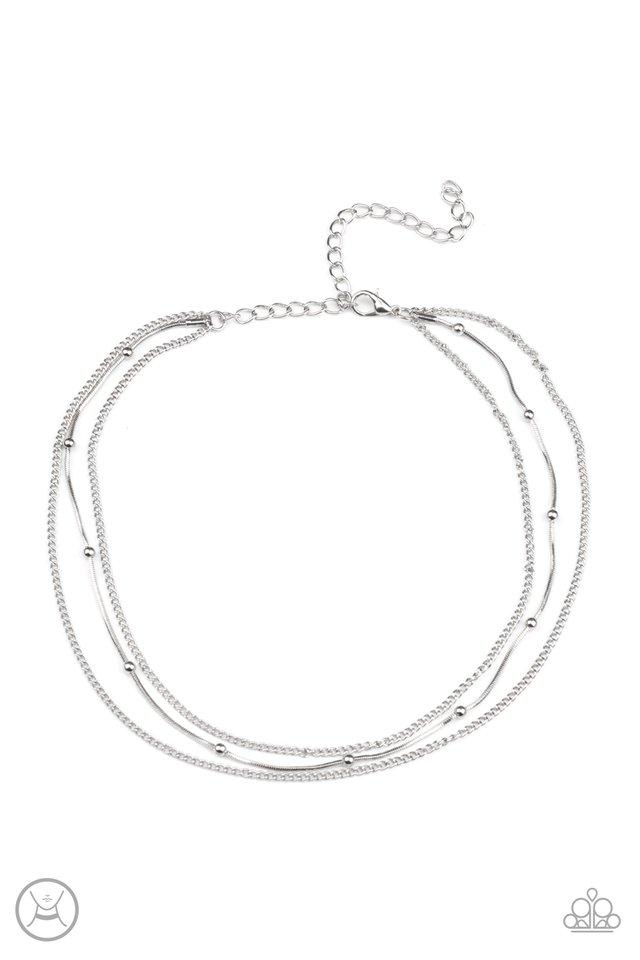 Subtly Stunning - Silver - Paparazzi Necklace Image