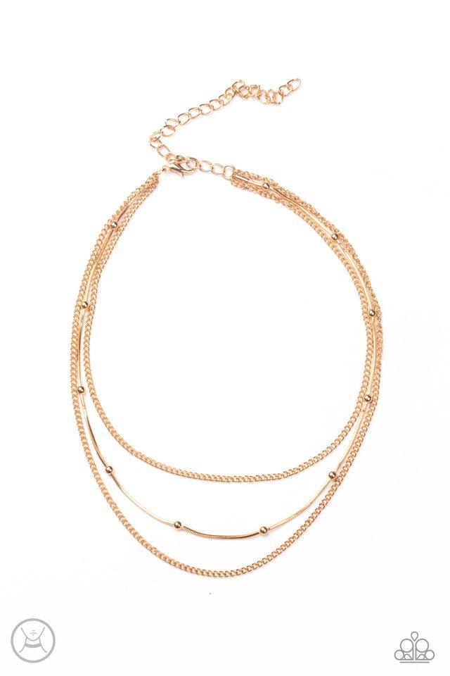 Subtly Stunning - Gold - Paparazzi Necklace Image
