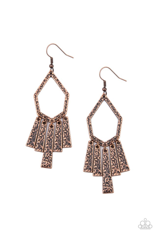 Museum Find - Copper - Paparazzi Earring Image