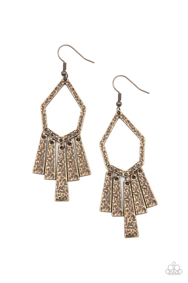 Museum Find - Brass - Paparazzi Earring Image