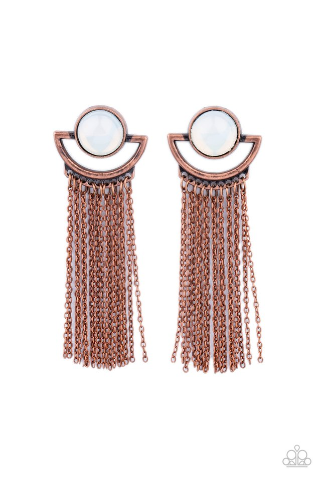 Opal Oracle - Copper - Paparazzi Earring Image