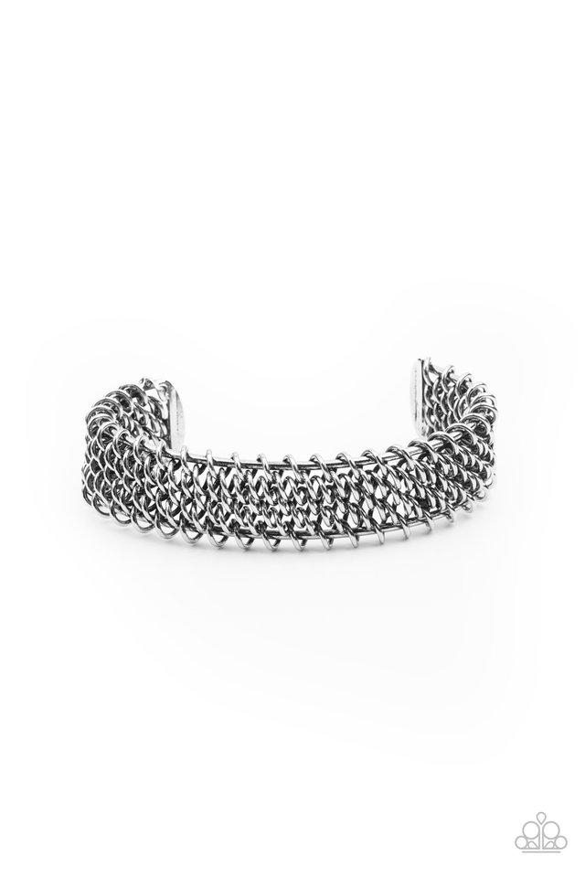 Gridlock - Silver - Paparazzi Bracelet Image