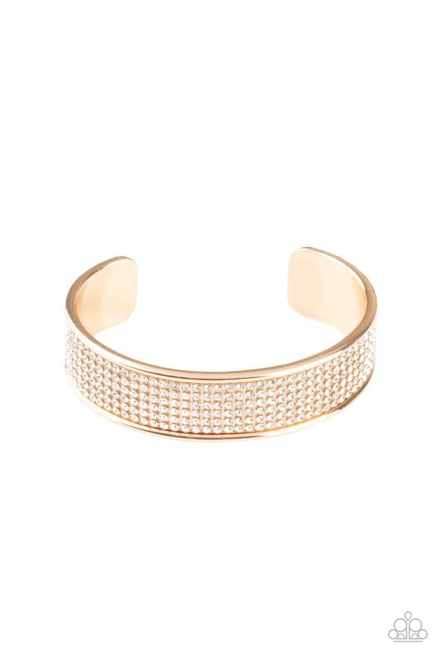 Cant Believe Your ICE - Gold - Paparazzi Bracelet Image