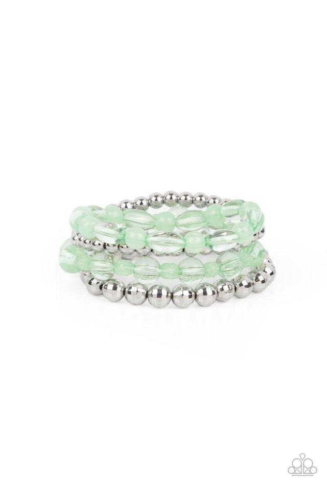 Delightfully Disco - Green - Paparazzi Bracelet Image