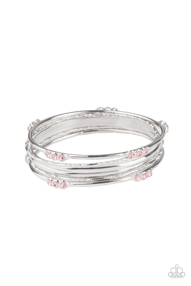Stackable Sparkle - Pink - Paparazzi Bracelet Image