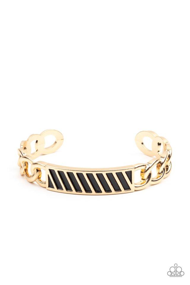 Keep Your Guard Up - Gold - Paparazzi Bracelet Image