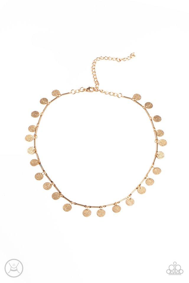 Musically Minimalist - Gold - Paparazzi Necklace Image