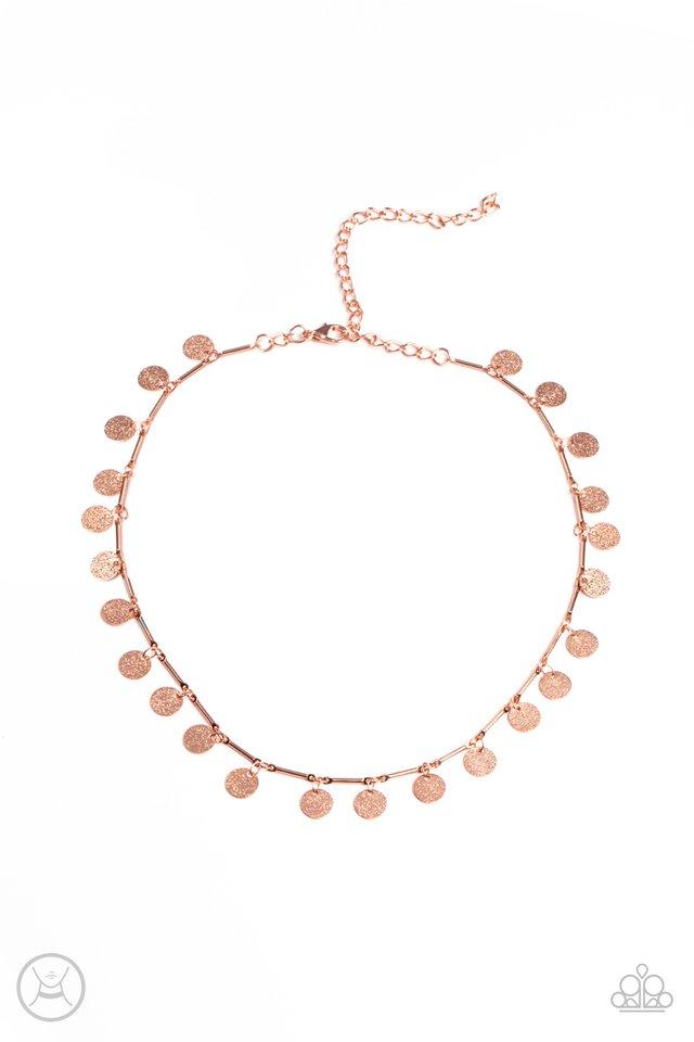 Musically Minimalist - Copper - Paparazzi Necklace Image