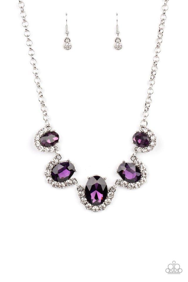 The Queen Demands It - Purple - Paparazzi Necklace Image