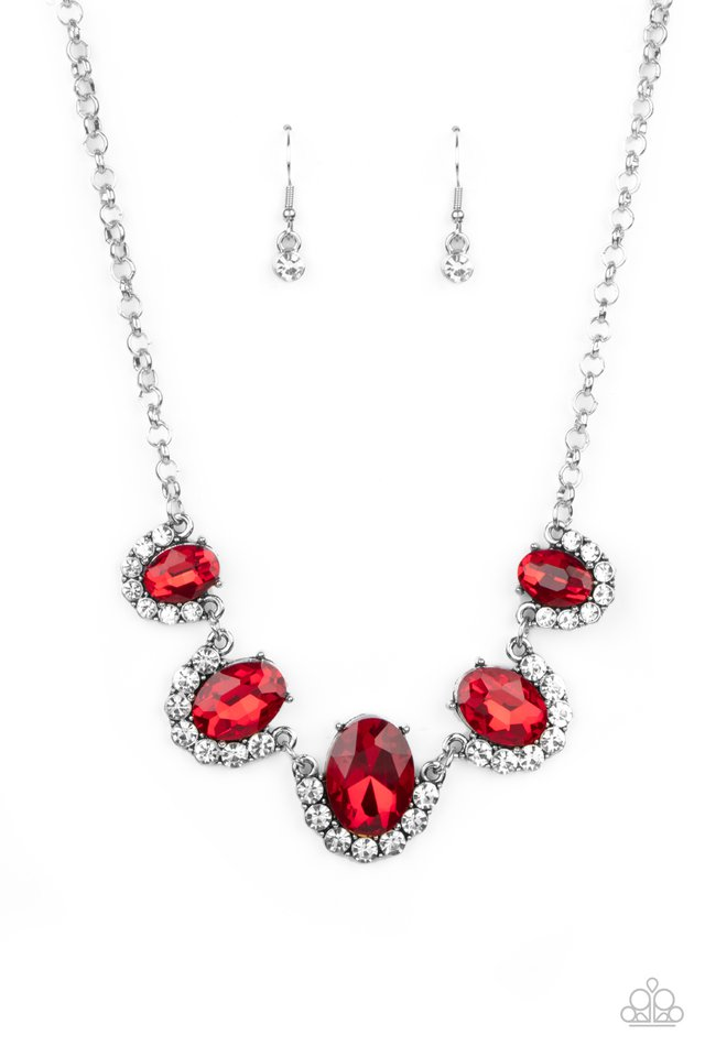 The Queen Demands It - Red - Paparazzi Necklace Image