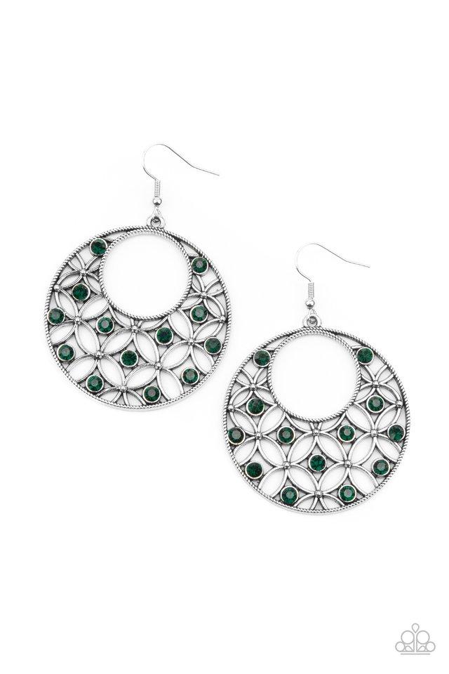 Garden Garnish - Green - Paparazzi Earring Image