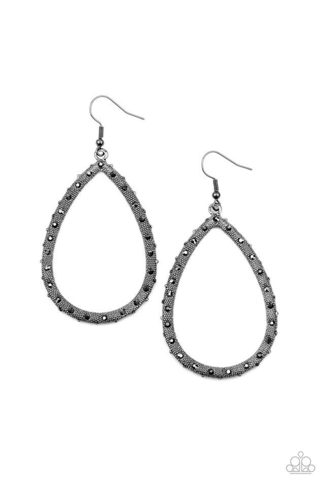 Standout Sparkle - Black - Paparazzi Earring Image